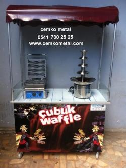 çubukta-waffle-közde-mısır-kestane-arabası-çikolata-şelalesi-cemko-metal - 597 x 800