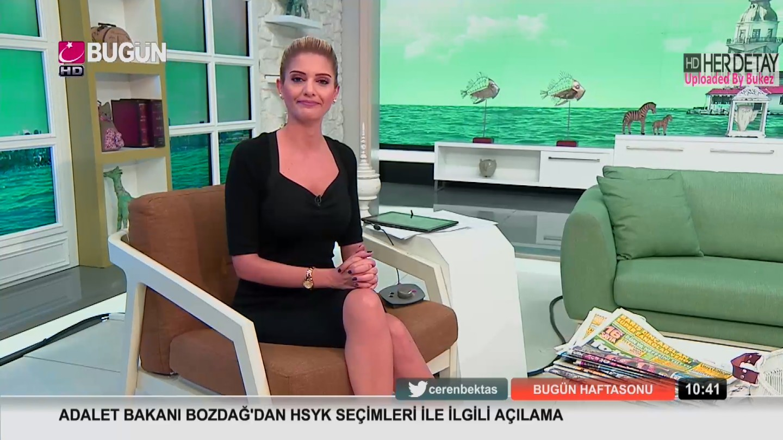 CaptureManiac®Blog: Ceren BEKTAŞ Mini etek - Bugün TV HD