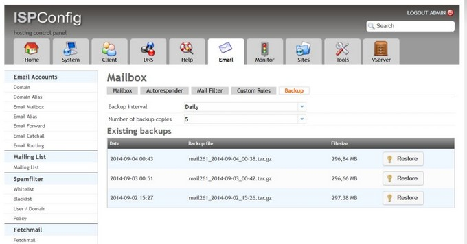 mailbackup
