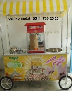 popcorn-pamuk-şeker-arabası-patlamış-mısır-hot-dog-cemko-metal - 475 x 600