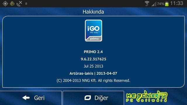 İGO Primo 2.4 v9.6.29.329069 HD Navigasyon Android Full Apk indir
