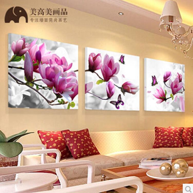 Картины для гостиной цветы