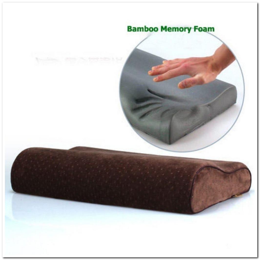 bamboo charcoal wave shape slow rebound memory foam pillow w