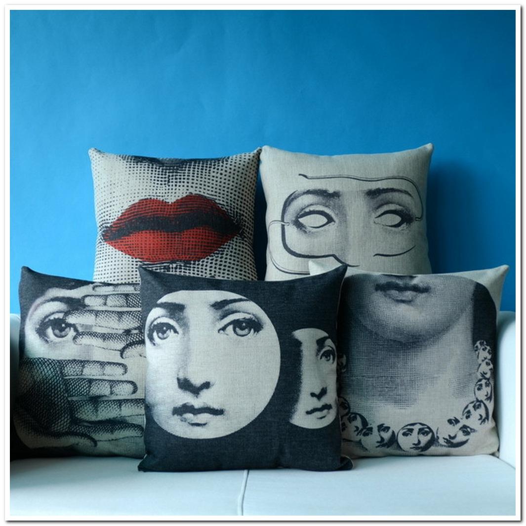 piero fornasetti pillow cover throw pillowcase cushion art f