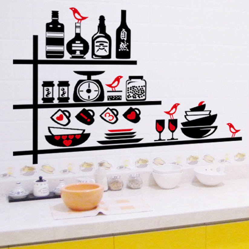 Fantastic-2015-New-design-Removable-Easy-Stickers-Vinyl-Wall-Stickers-Kitchen-Utensils-Cutlery-Gree