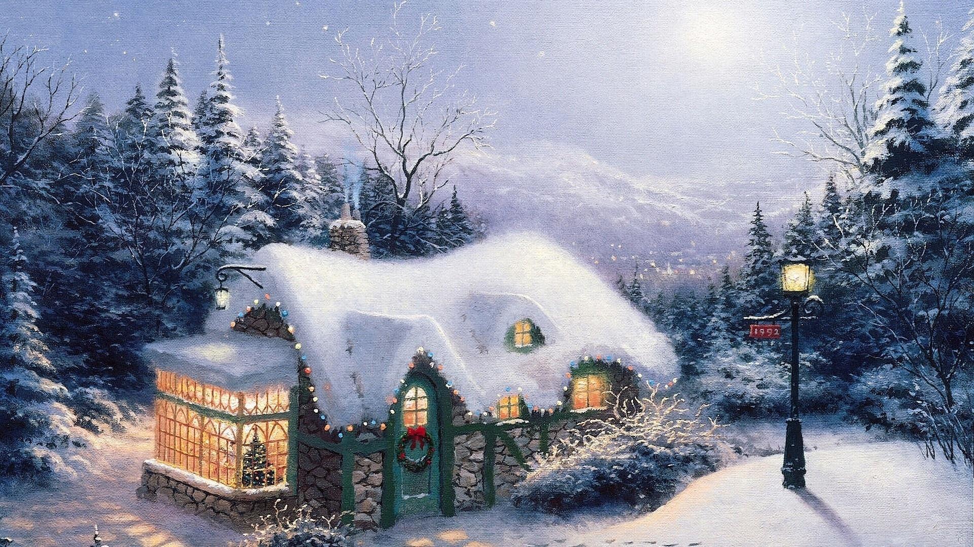снег зима усадьба фазенда без смс