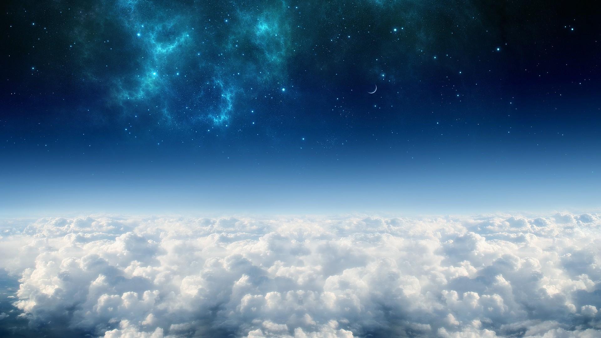 Небо луна облака загрузить