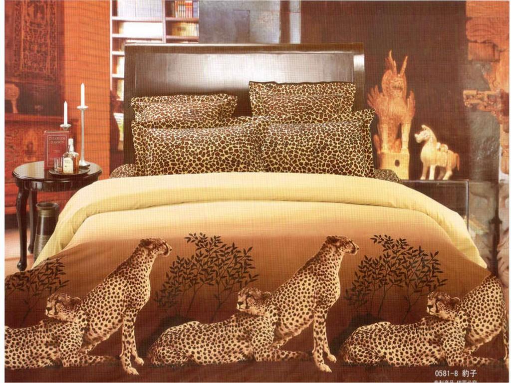 bedding set queen size Leopard Animal oil painting Duvet cover 3d bedding set 4pcs bedclothes bed - ryuklemobi