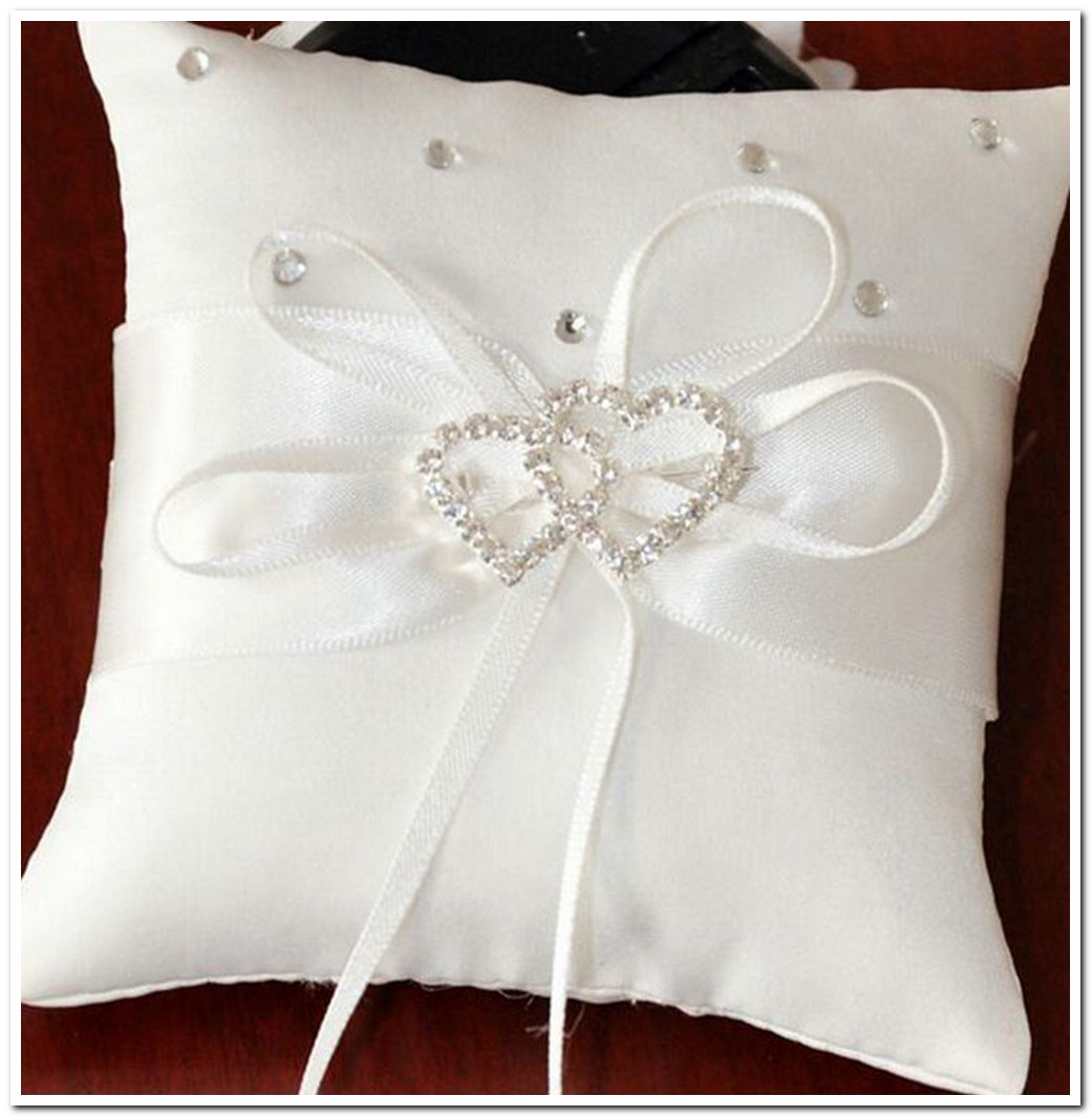 Butterfly Ring Style Pure White Cushion Bowknot Bed Sofa Home Throw Decorative Pillows For Wedding  - ryuklemobi