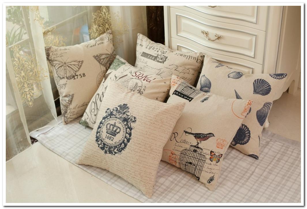 linen decorate capa de almofada ikea cojin vintage cushion c