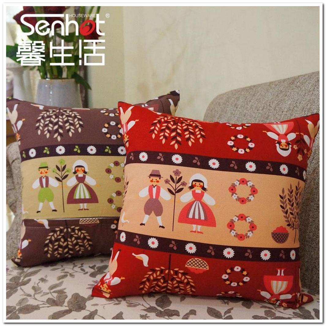 creative cute cartoon office sofa bed waist cushion home fur