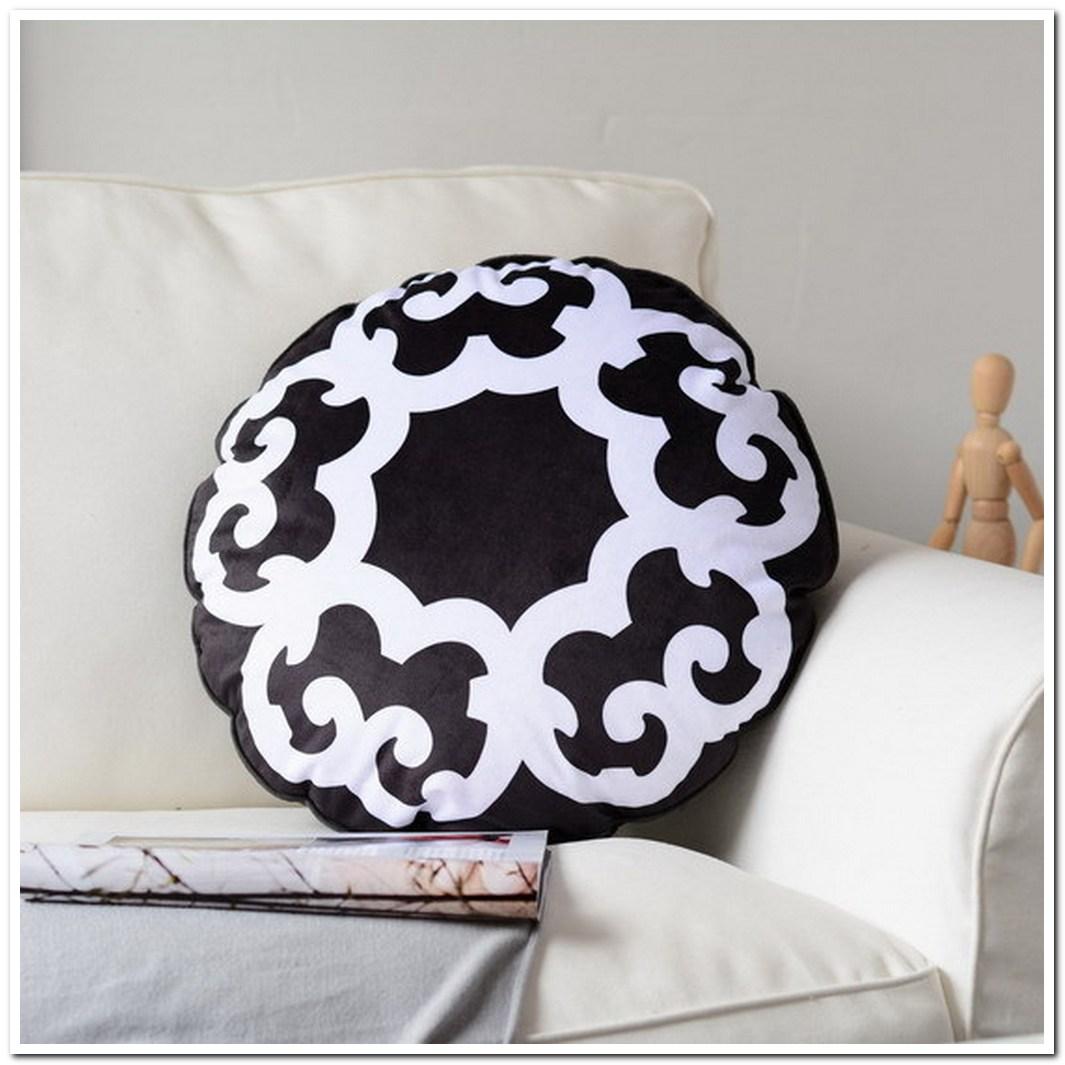 black white round pillow sofa throw pillow fashion decorativ