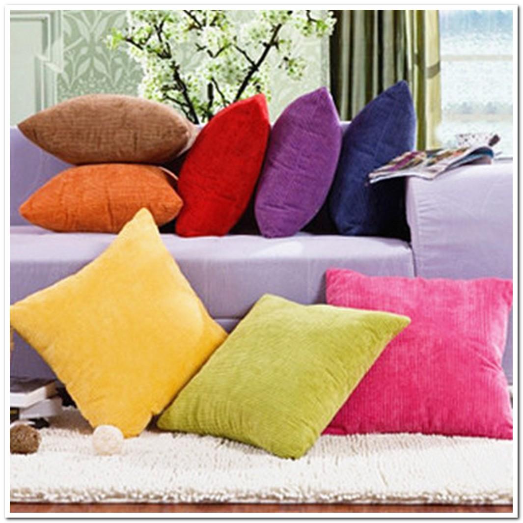 wn001 fashion soft health home textiles corduroy solid cushi