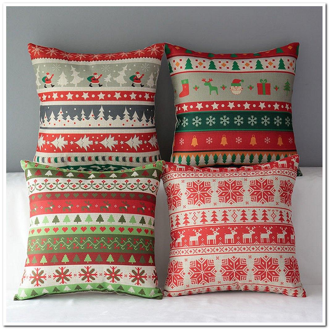8 square chrismas decorative pillow cover pillow case santa
