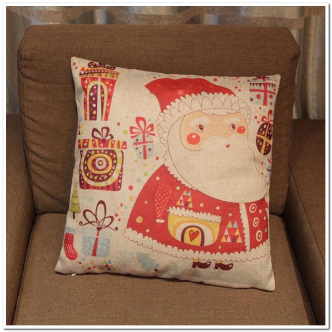 coreless santa christmas hug pillowcase linen composite moul
